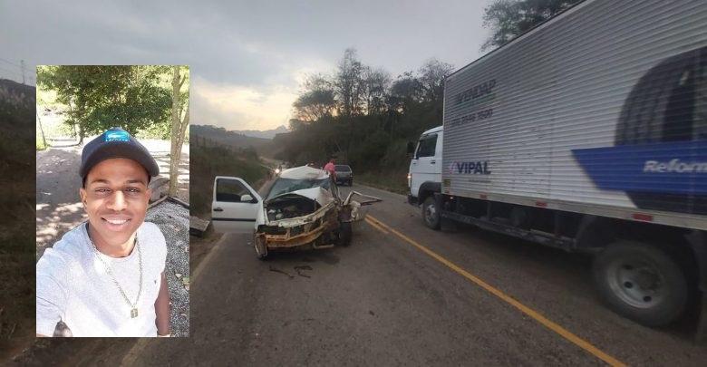 Jovem morre em um acidente entre moto e carro na MG 108
