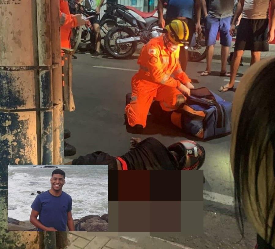 Jovem de 21 anos morre após acidente com moto no Centro de Manhuaçu