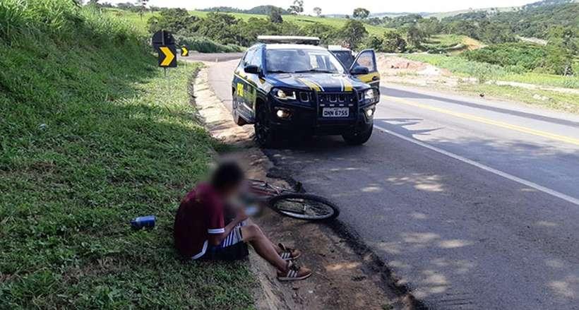 Após conhecer garota pela internet, jovem tenta pedalar de MG ao Maranhão