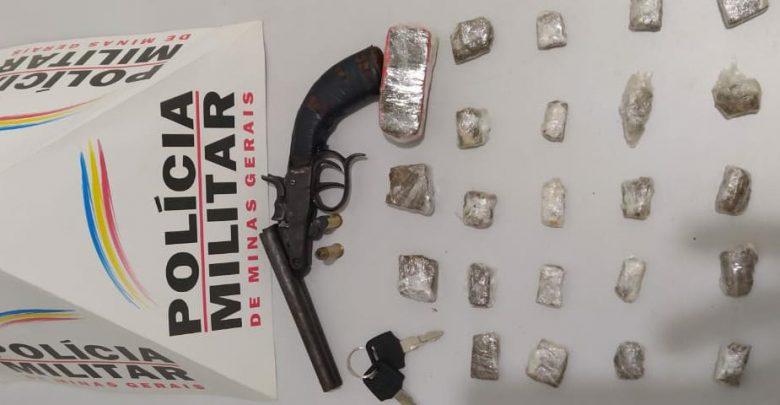 Autor de tráfico é preso, drogas, armas e munições são apreendidas