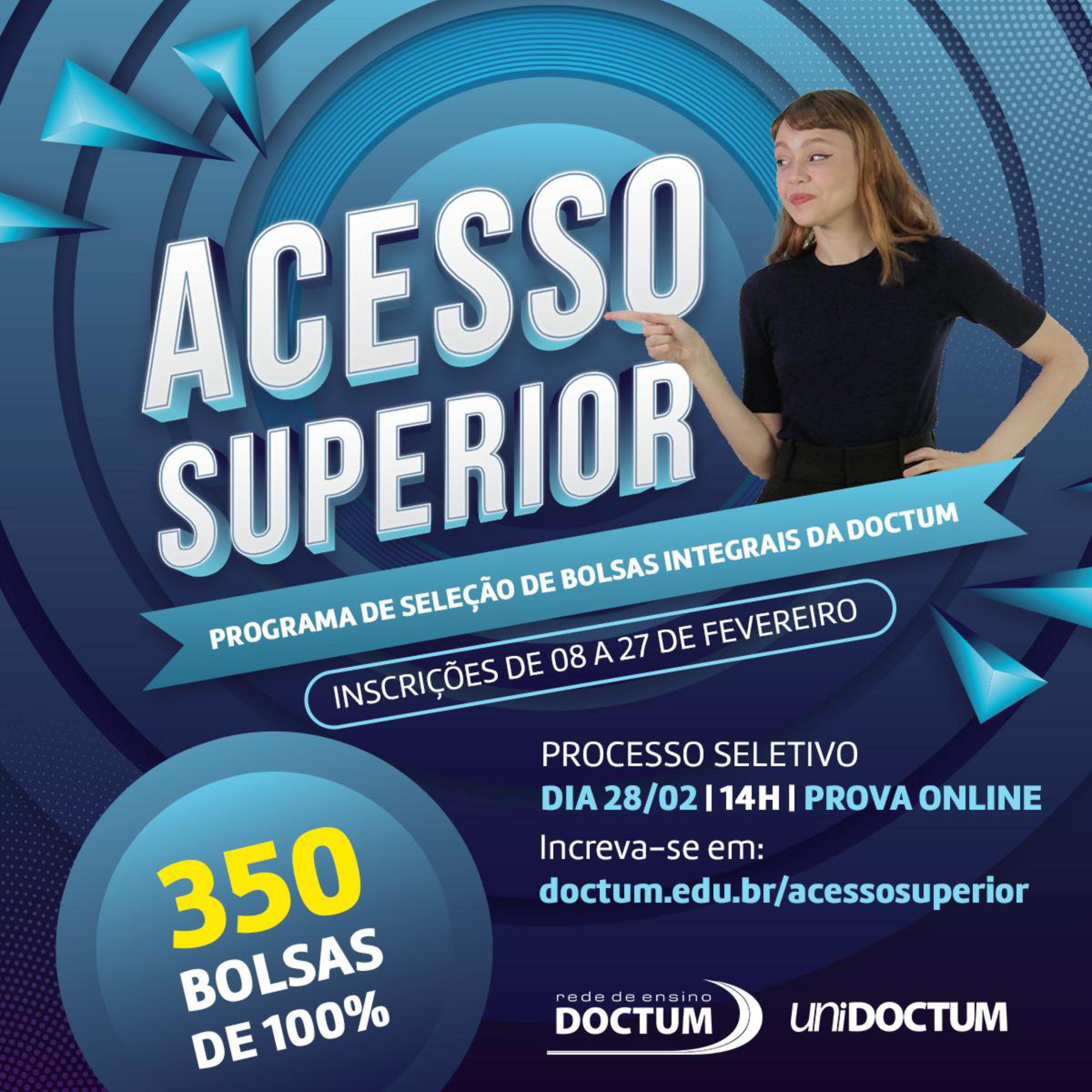 Rede de Ensino Doctum irá distribuir 350 bolsas de estudos integrais