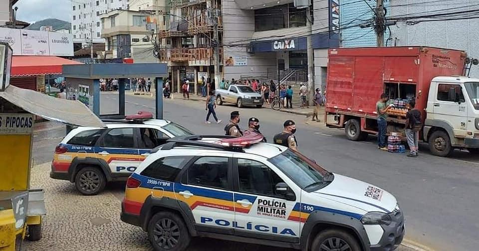 PM intensifica o policiamento nas imediações da Caixa Econômica Federal