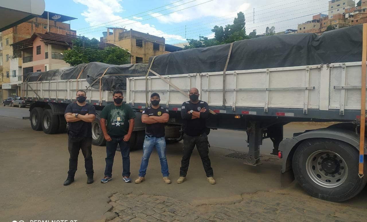Polícia Civil da região de Manhuaçu recupera em Simonésia cargas subtraídas no Rio de Janeiro