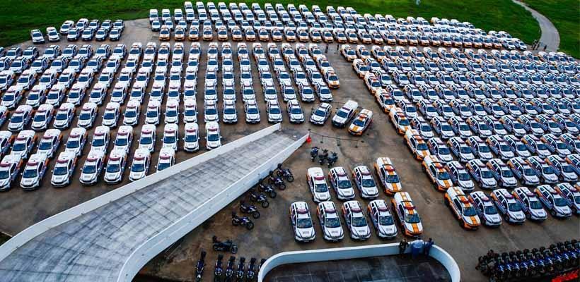 Romeu Zema entrega 645 viaturas para reforçar a segurança pública em municípios mineiros