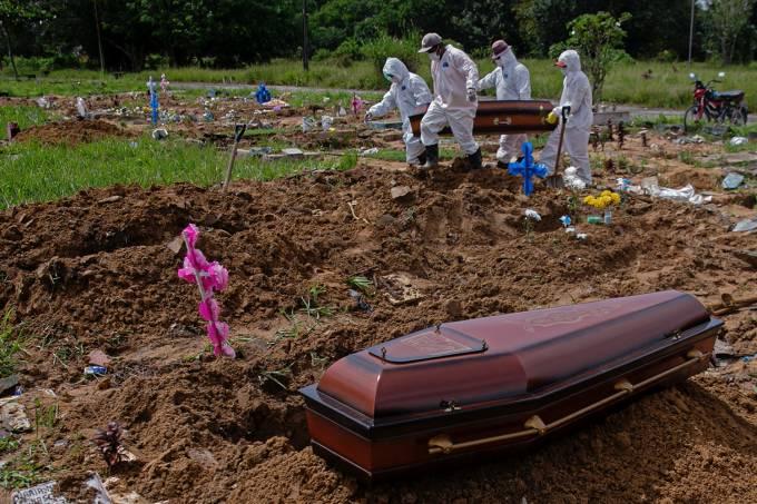 Brasil tem segunda maior média de mortes da pandemia, acima de 3.000