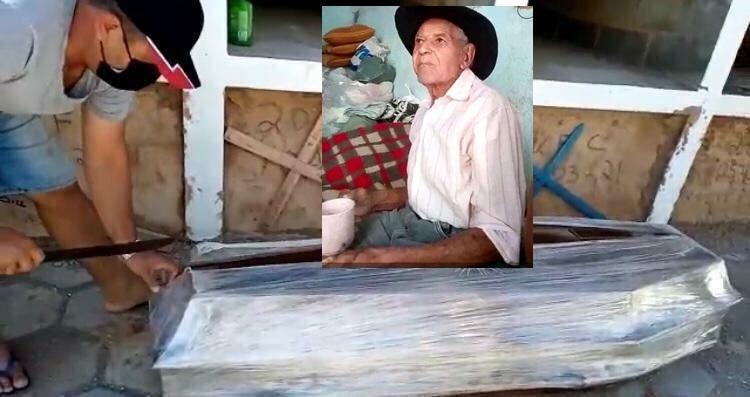 Exame de idoso que teve o caixão aberto por vereador tem resultado 'indetectável' para Covid-19