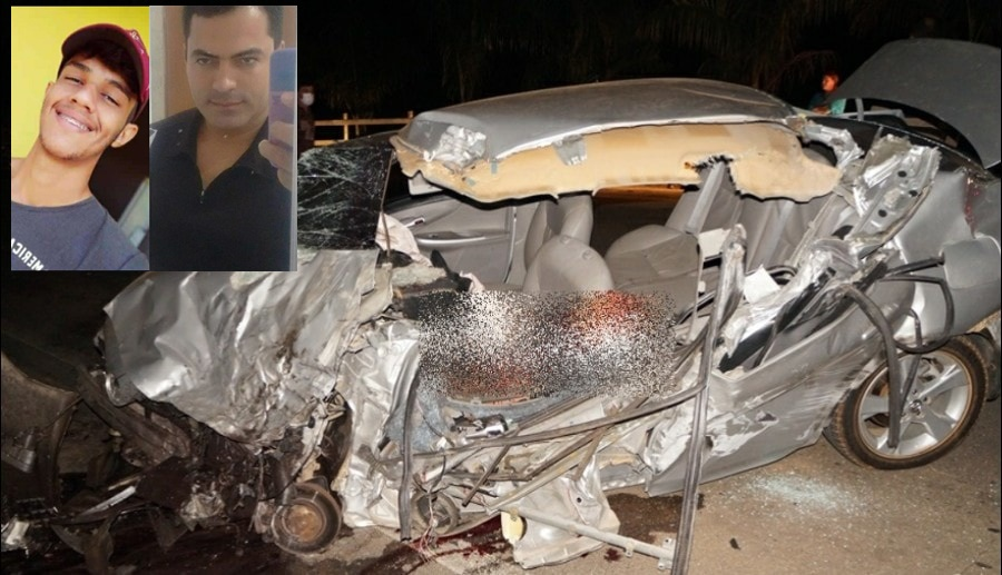 Grave acidente deixa suas vítimas fatais e deixa 3 pessoas feridas