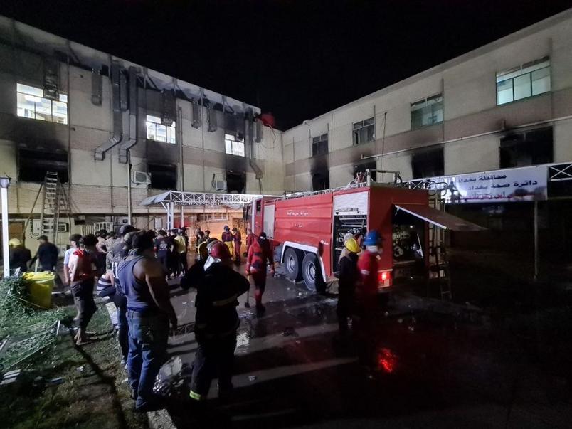 Incêndio em hospital de Bagdá deixa 82 mortos e 110 feridos