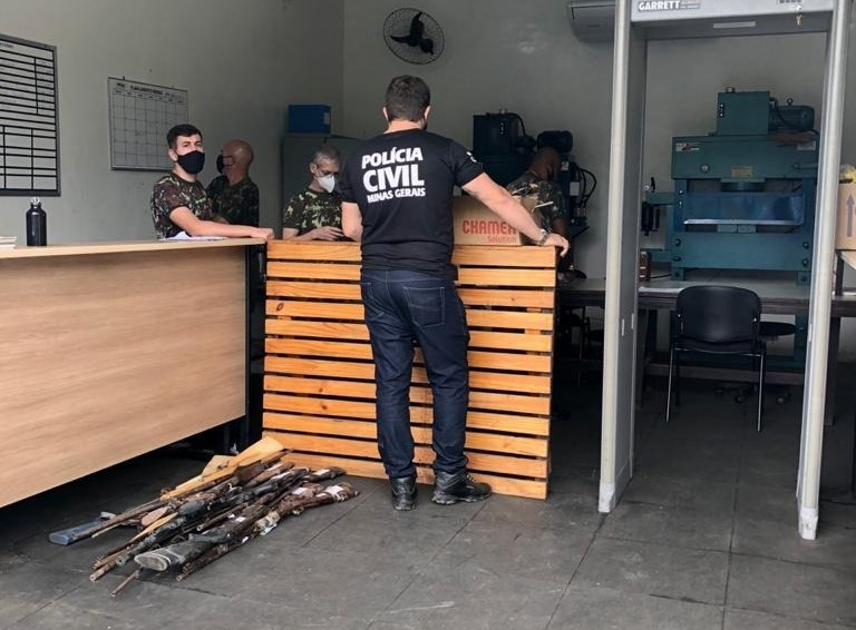 Mais de cem armas são encaminhadas pela PC ao Exército