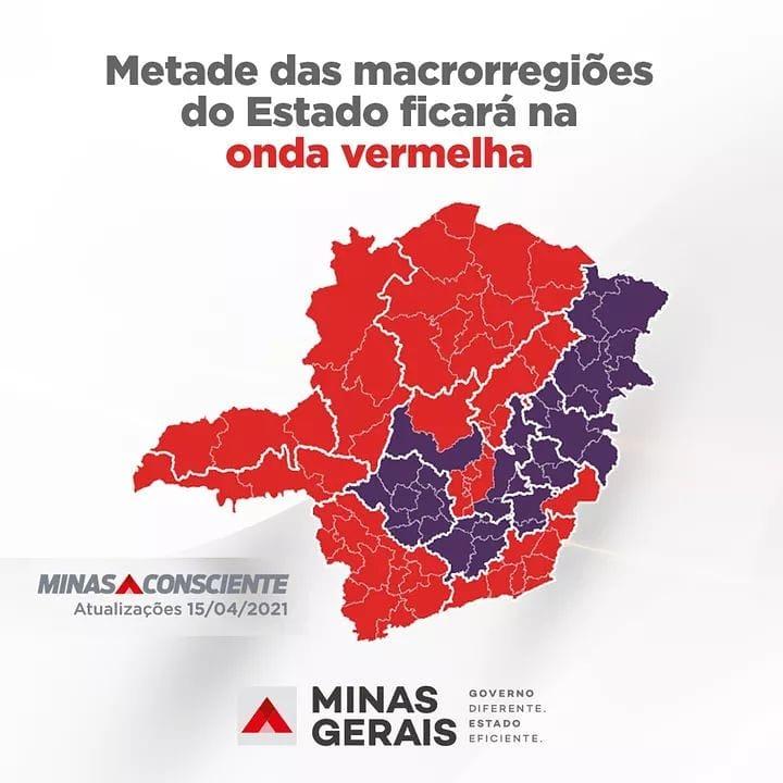 Microrregião de Manhuaçu avança para a Onda Vermelha do Minas Consciente