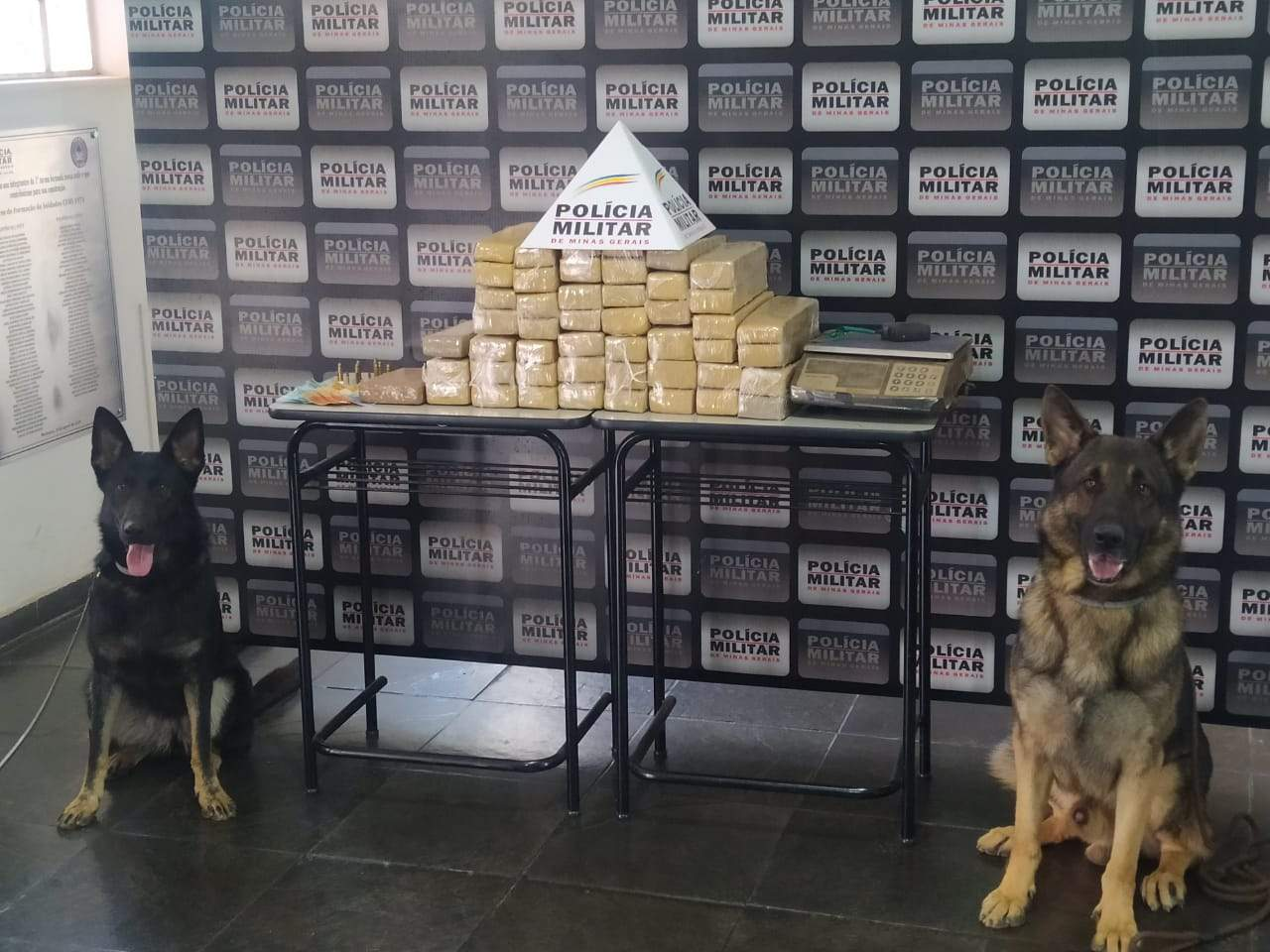 PM prende dois autores e apreende 51 tabletes de maconha e cocaína em Matipó