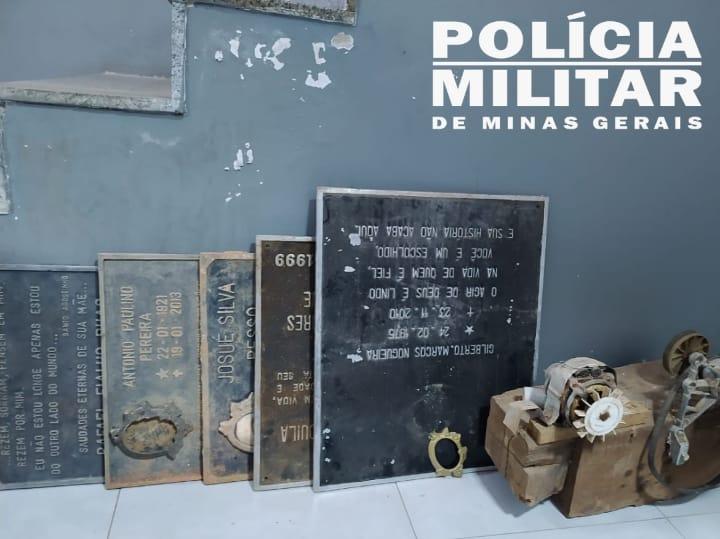 Suspeito de furtos no Alfa Sul e Centro é preso com placas de túmulos furtadas