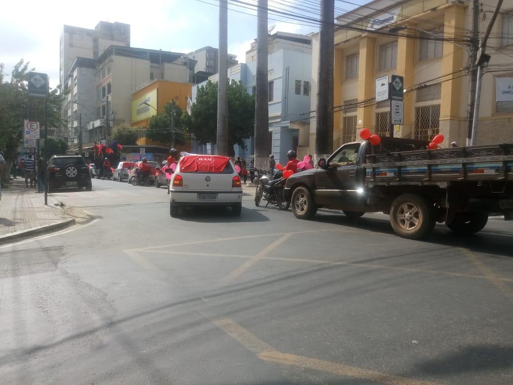 Carreata contra a mineração é realizada em Manhuaçu