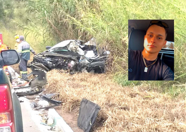Jovem morre ao colidir com carreta na BR-262