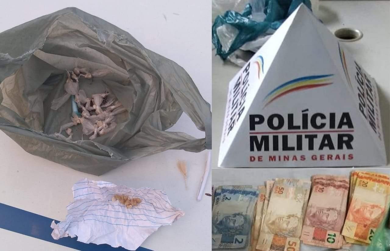 Policiais apreendem drogas no distrito de Vilanova