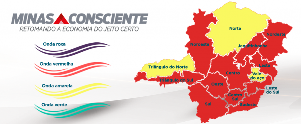 Minas Gerais adota mais restrições na onda vermelha