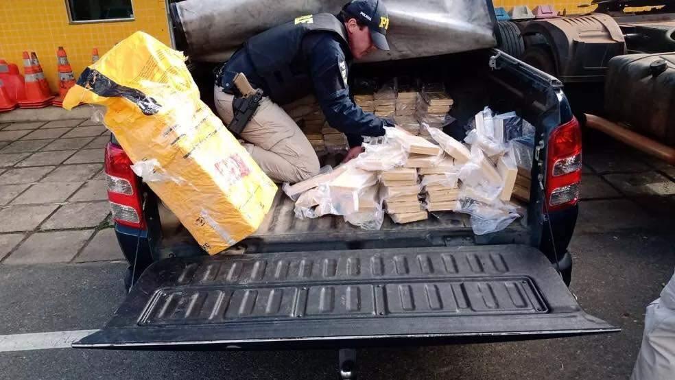 PRF apreende 500 quilos de pasta base de cocaína na BR-116
