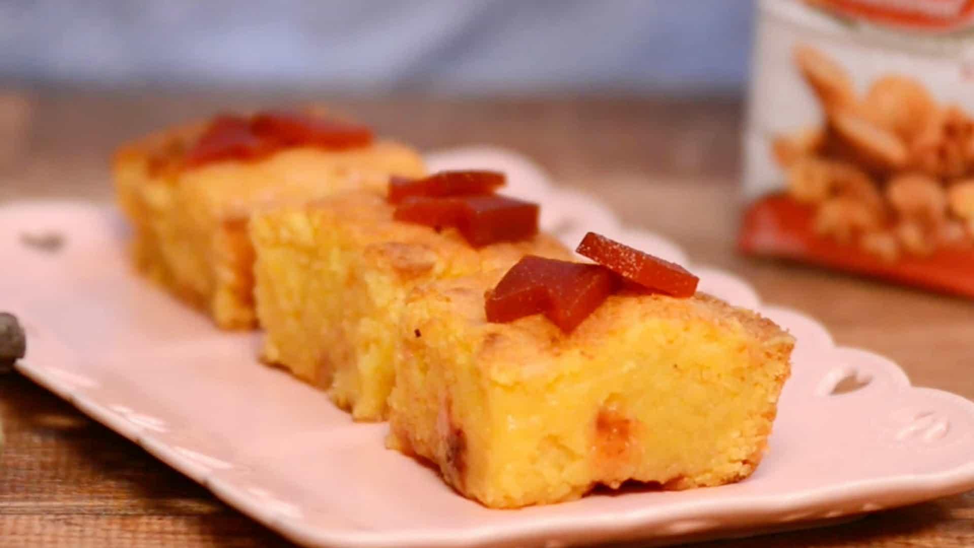 Receita Junina: Brownie de Milho com Goiabada