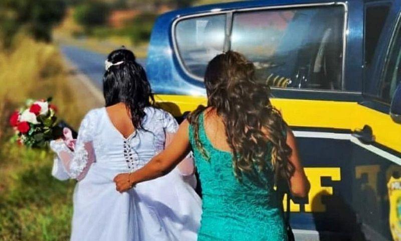Carro da noiva tem pane e nossos policiais salvam o casamento