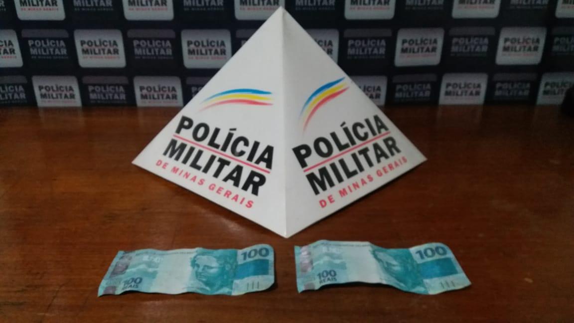 Polícia Militar identifica acusados de derrame de notas falsas no comércio do distrito