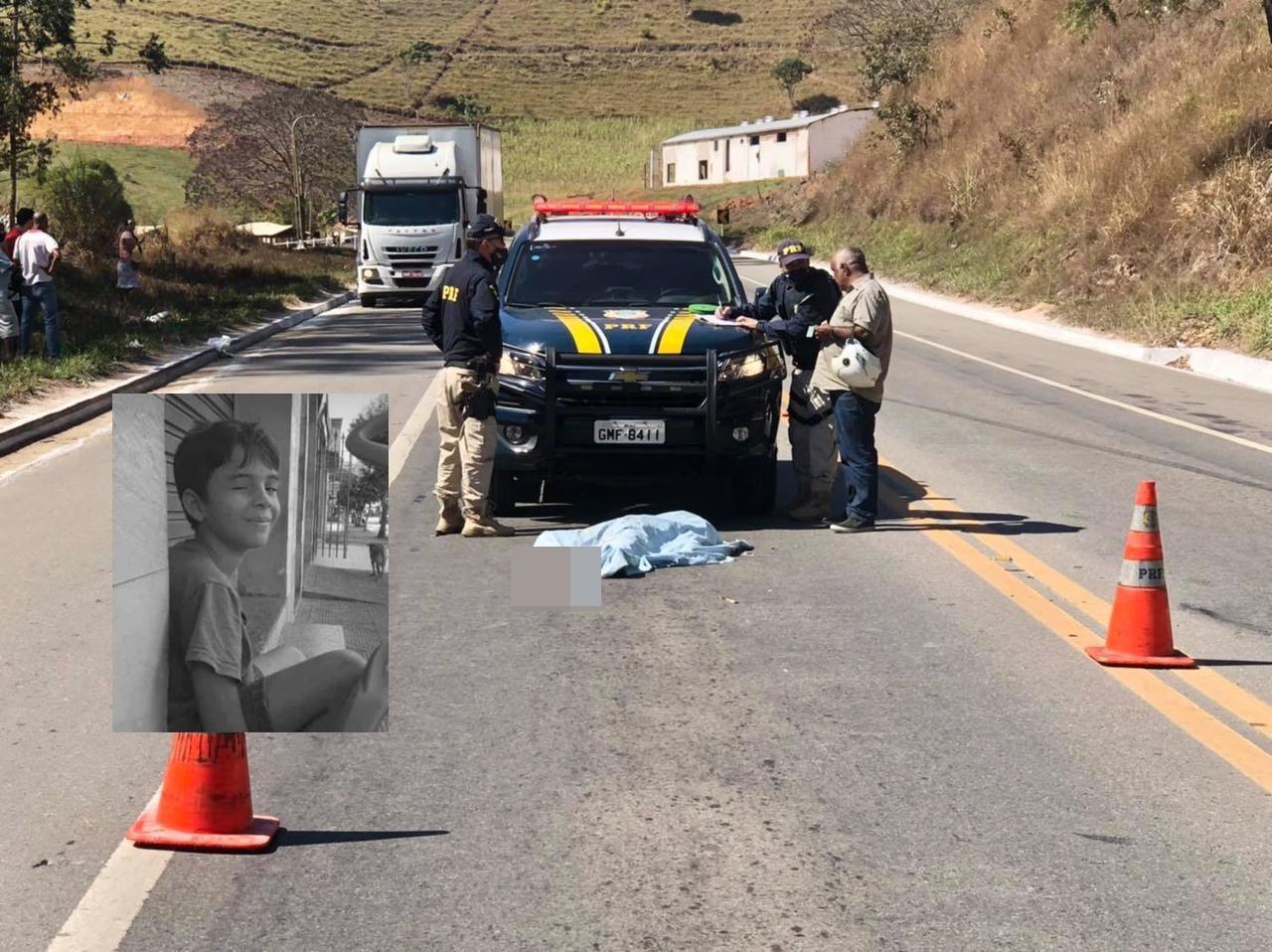 Criança de 12 anos morre atropelada por carro na BR-116
